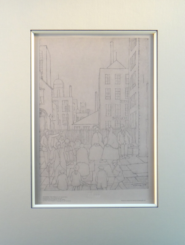 lowry outside the mill print mounted
