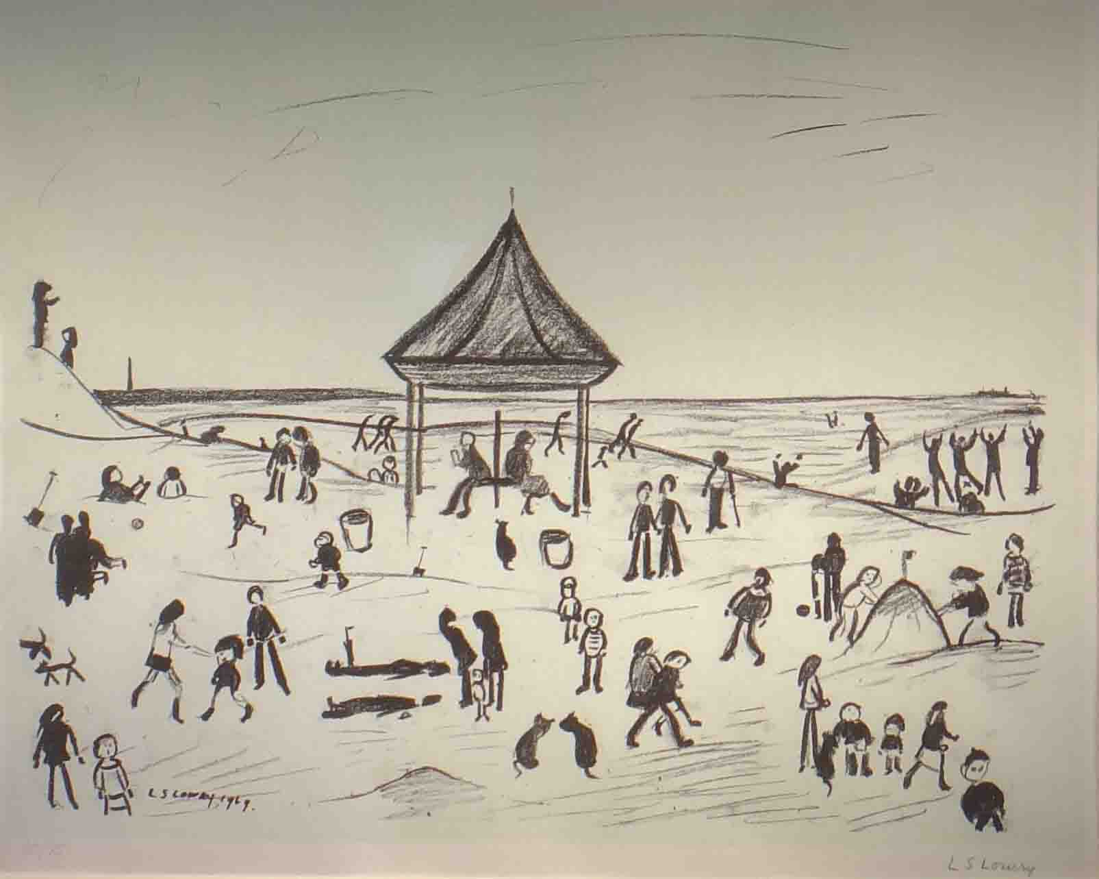 The Pavilion, Lowry original signed limited edition lithograph