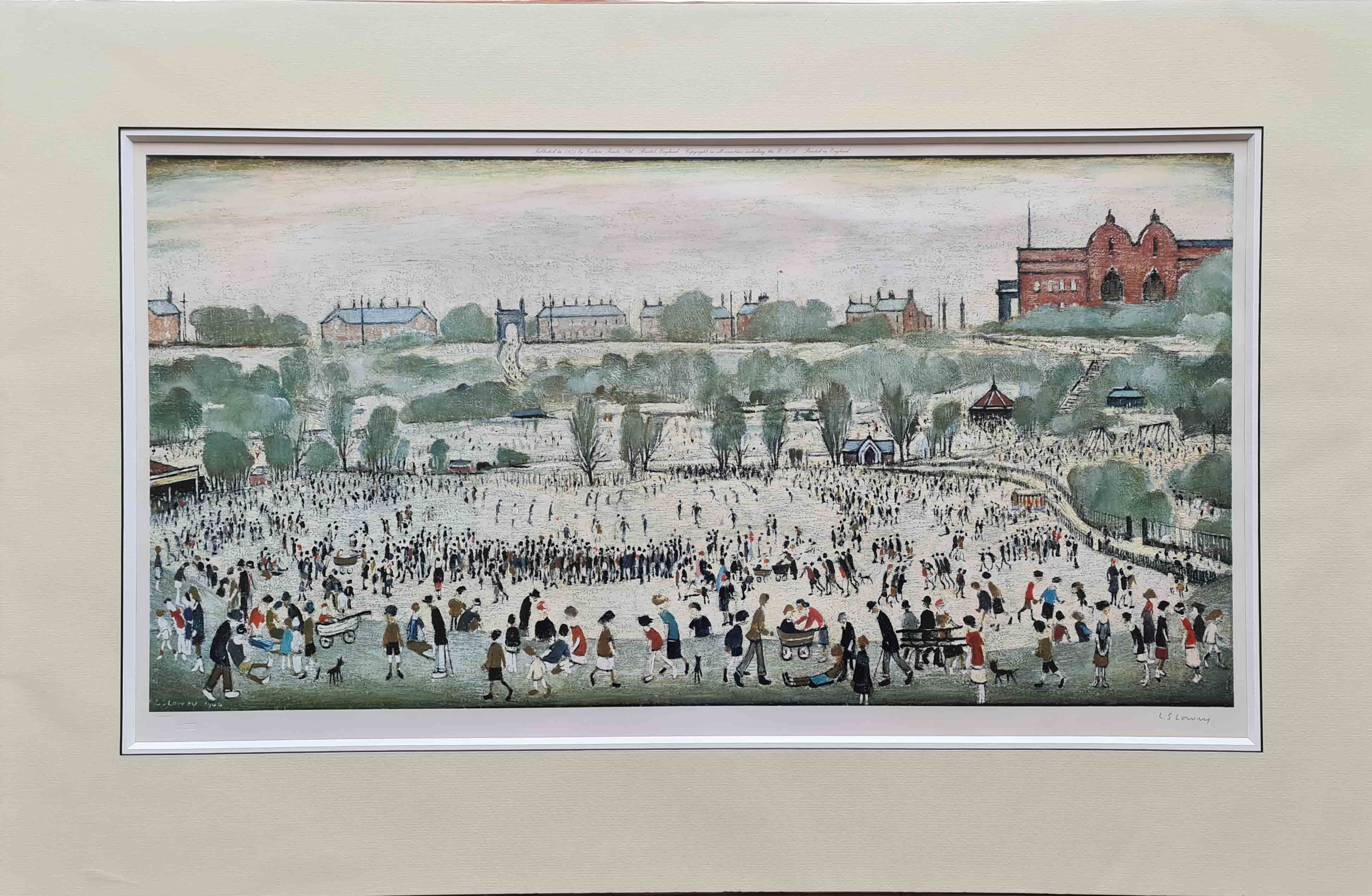 lowry, Peel Park, signed print lslowry