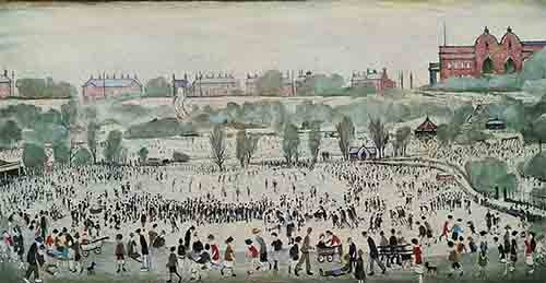 lowry signed prints, peel park