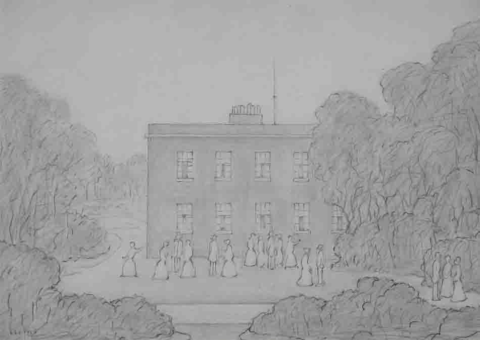 lowry pencil house drawing