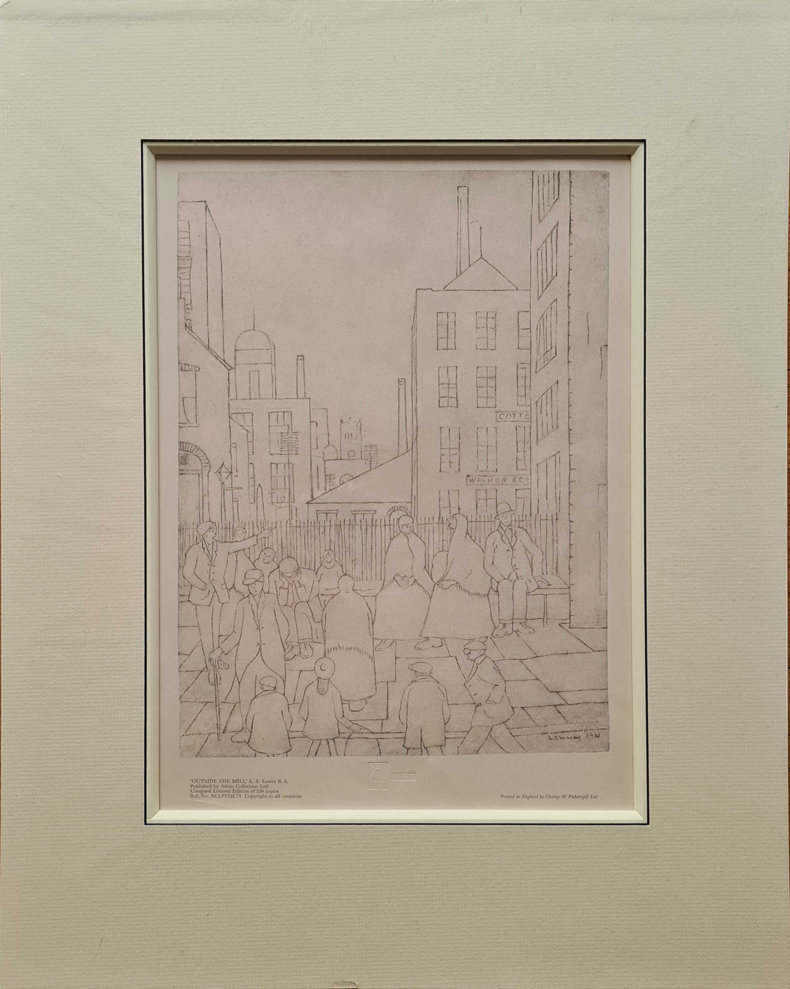 lowry outside the mill print drawing