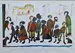 ls lowry people standing about print
