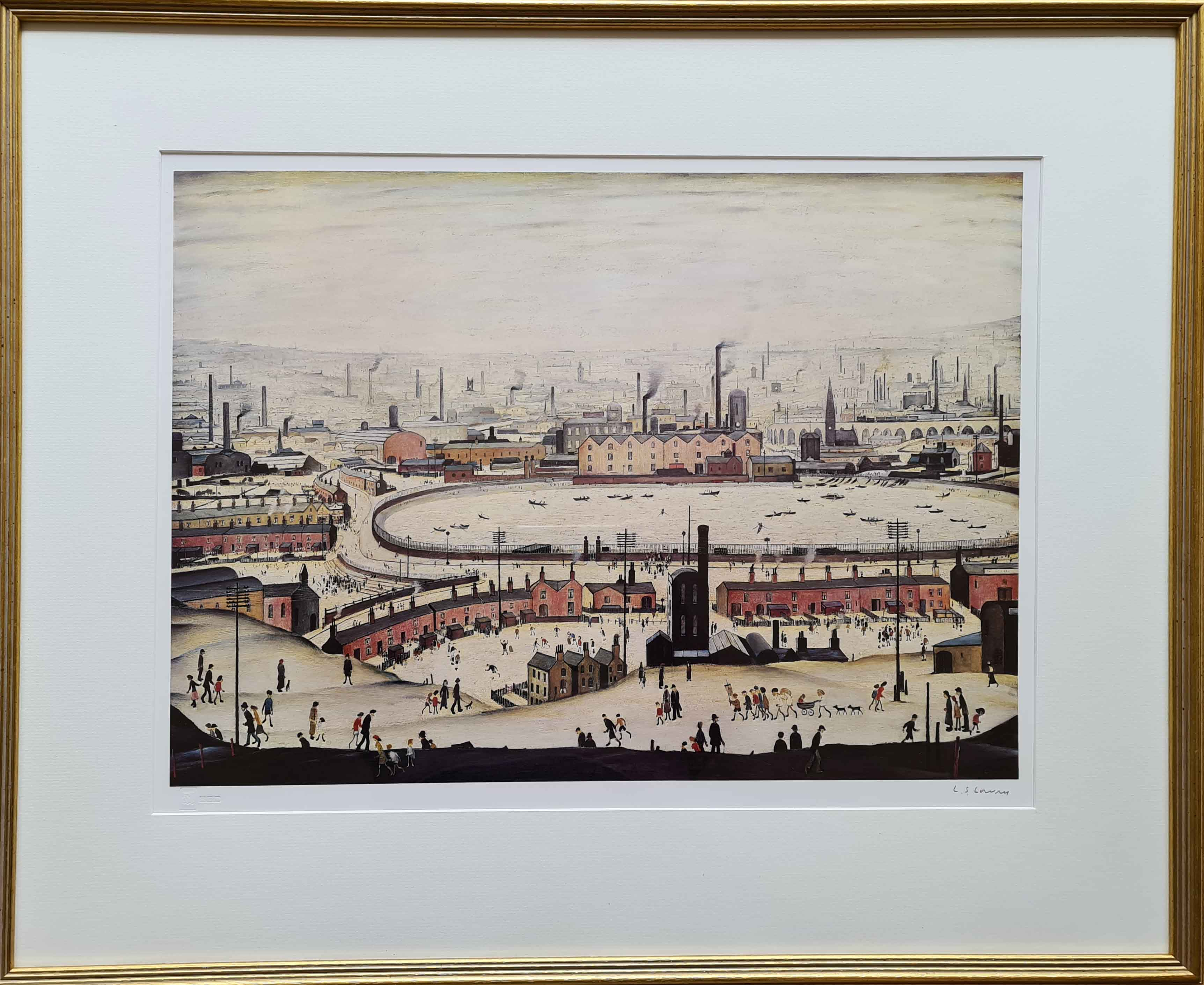 lowry, The Pond, signed print lslowry