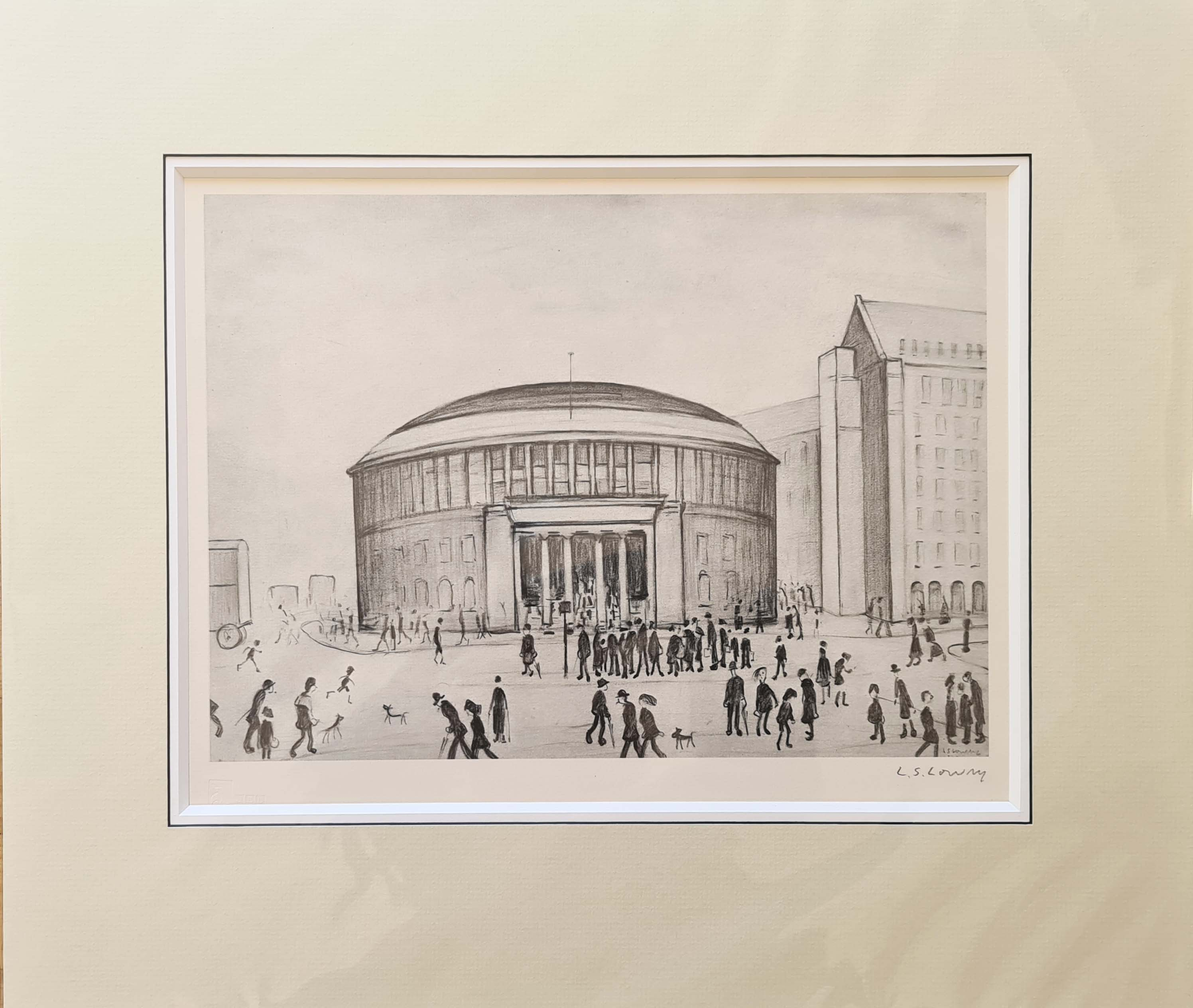 lowry, Reference library, signed print lslowry
