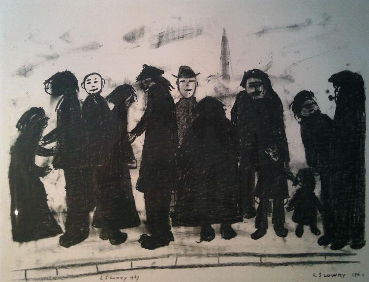 lowry shapes and sizes lithograph signed print