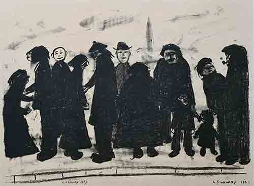 Shapes and Sizes, Lowry original signed limited edition lithograph