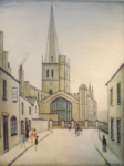 ls lowry Burford church, signed, limited edition,print