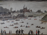 ls lowry crime lake, signed, limited edition,print