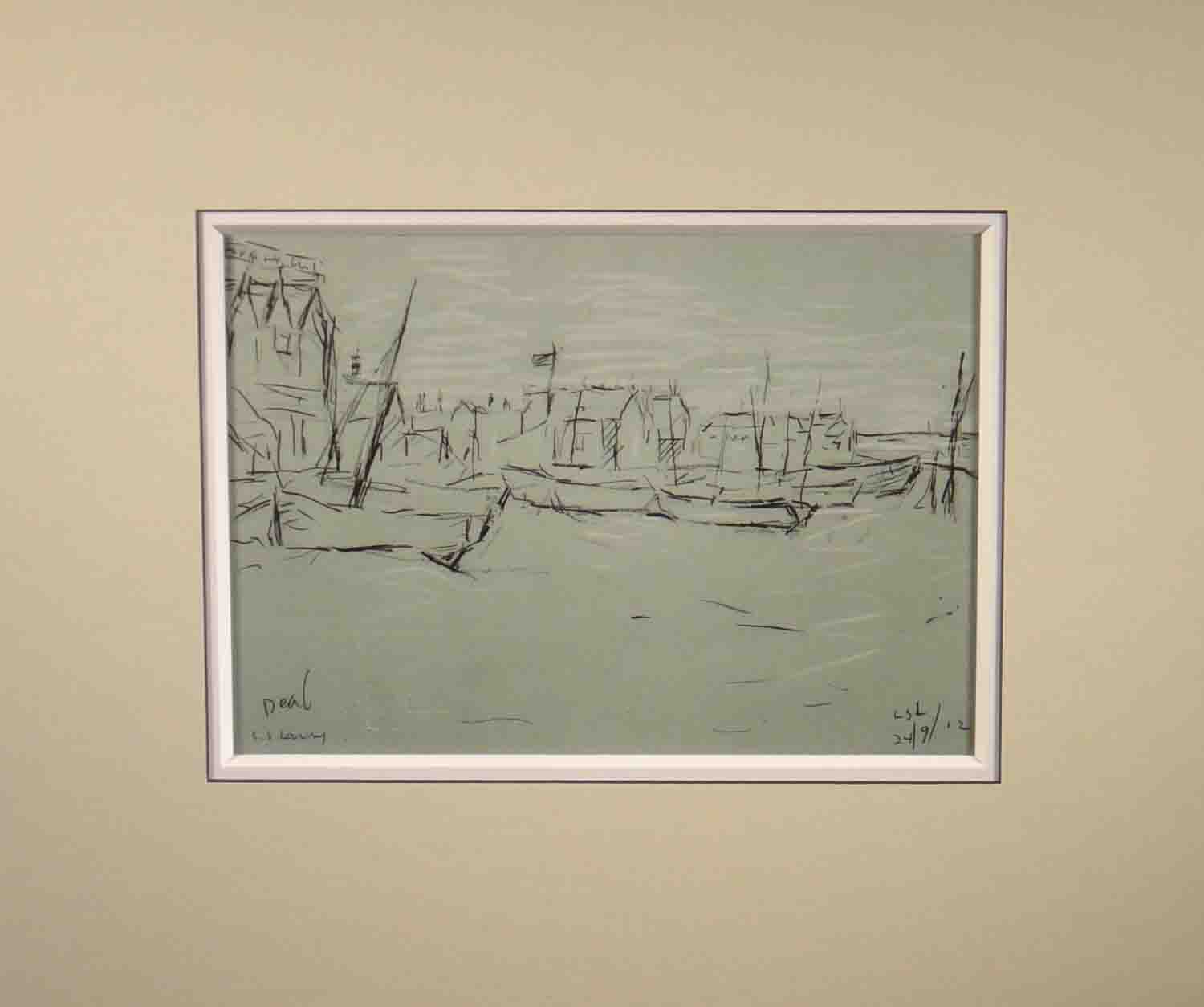 lowry, Deal, signed print lslowry