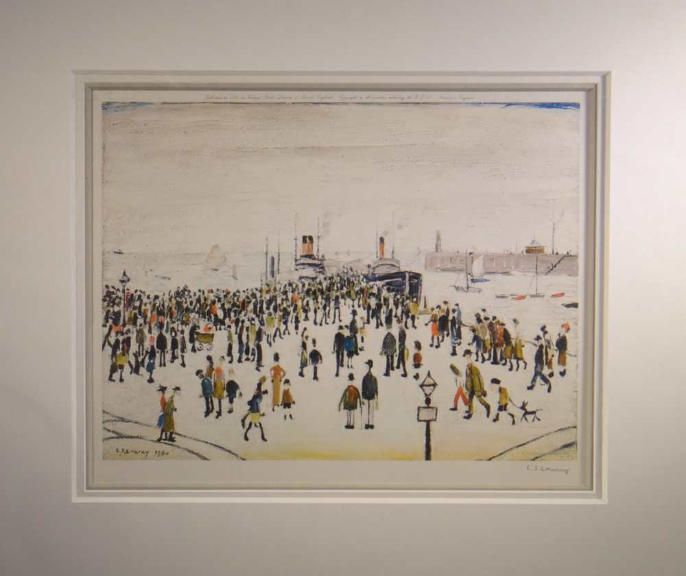 lowry ferry boats signed limited edition print