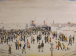 ls lowry ferry boats, signed, limited edition,print