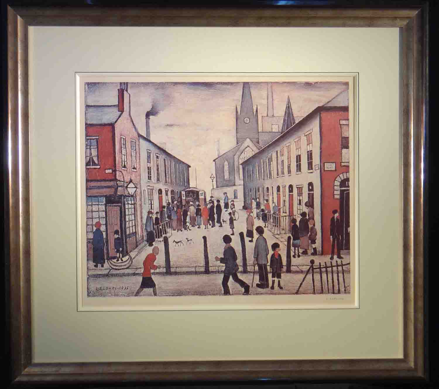 lowry, Fever Van, Salford, signed print lslowry