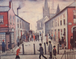 ls lowry fever van, signed, limited edition,print