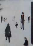 lowry signed prints, figures in the park