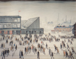 ls lowry Going to the match, signed, limited edition,print