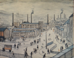 lowry signed prints, huddersfield