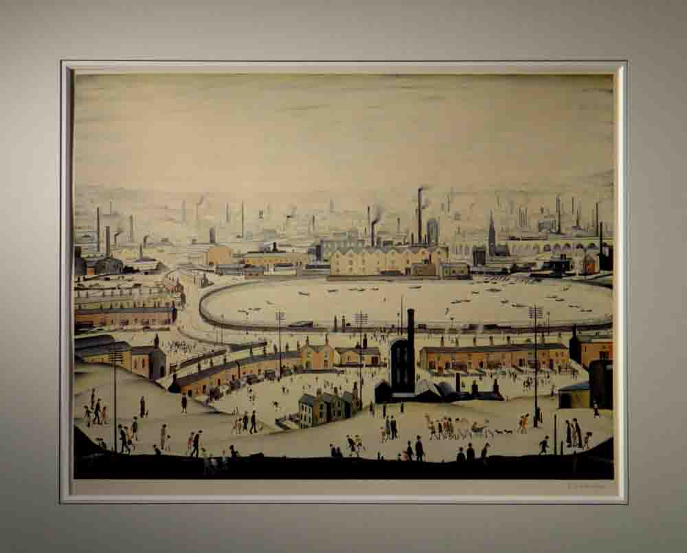 L S Lowry Lowry The Pond Signed Limited Edition Print