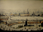 lowry signed prints, pond