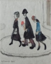 ls lowry the street scene, signed, limited edition,print