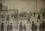 lowry, signed prints, football match