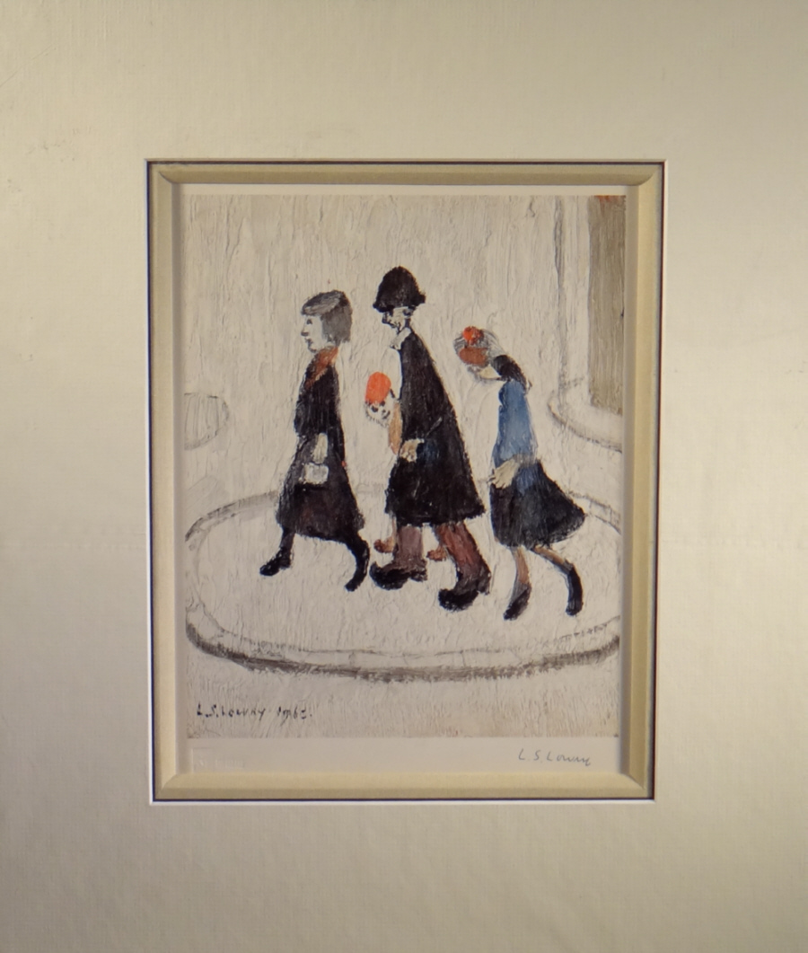 lowry, signed limited edition print, the family