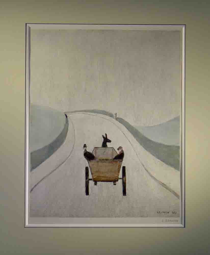 lowry The Cart, signed print lslowry