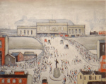 lowry signed prints, station approach