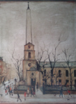 lowry, signed, prints, st. luke's church