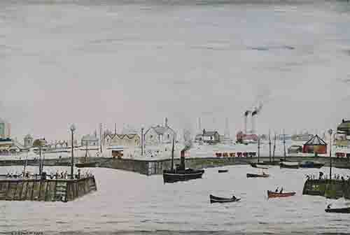 lowry signed prints, the harbour
