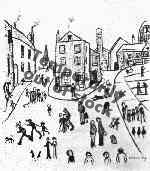 lowry, signed, prints, three cats Alstow