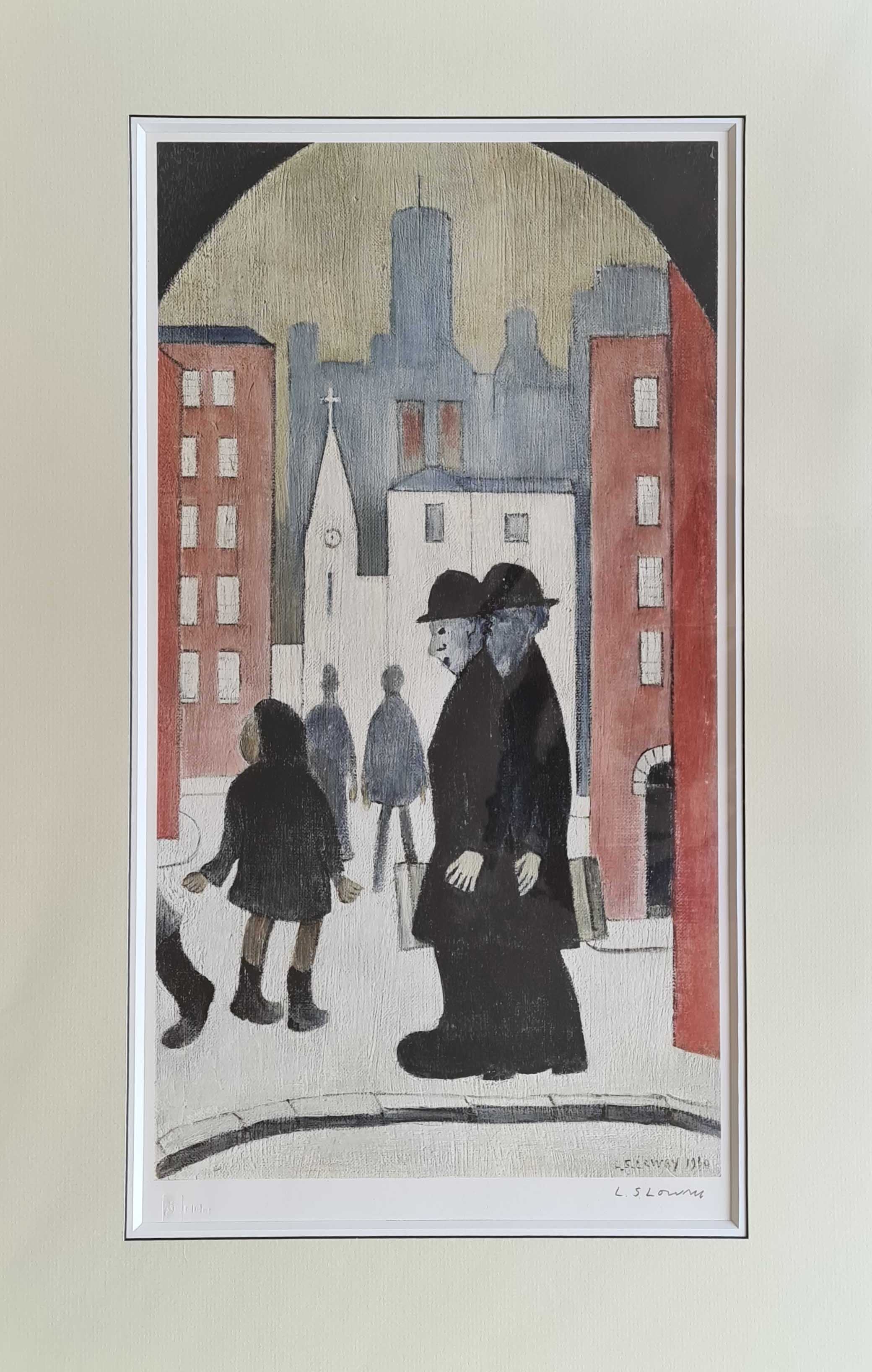 print lowry two brothers mounted