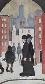 lowry, signed prints, two brothers