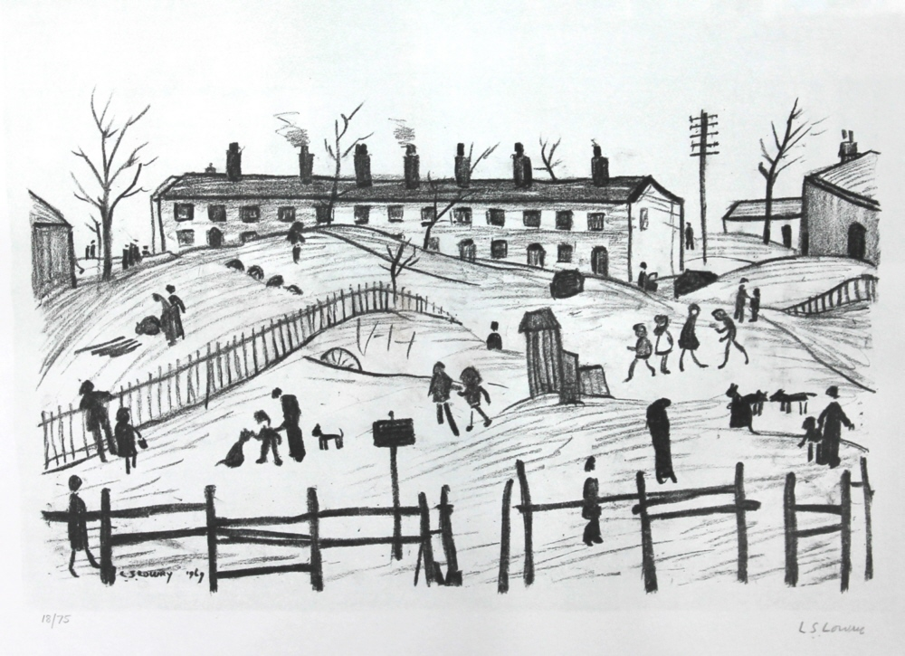 winter in broughton lslowry
