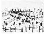 Winter in Broughton, Lowry original signed limited edition lithograph